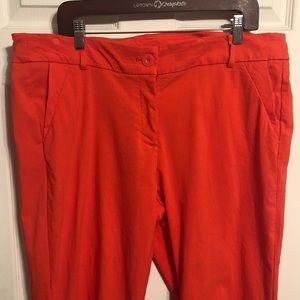 Lane Bryant Redish-Orange 18 Long Dress Pants